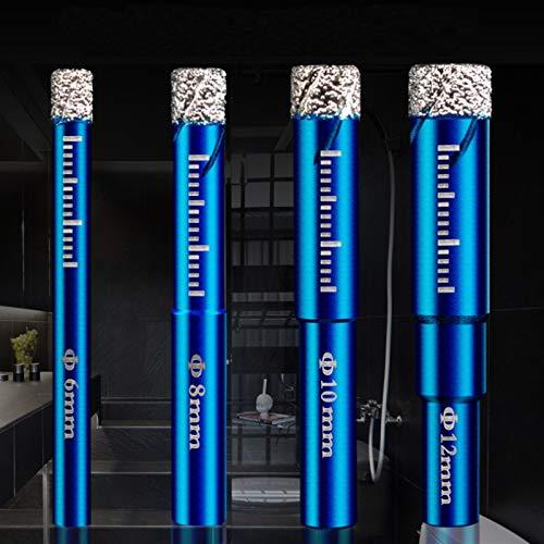XIARUI Taladro 1 pieza 6 8 10 12 14 16 mm Durable Diamond Coated Core Drill Bit Drilling Dry para vidrio mármol granito cuarzo porcelana cerámica durable (diámetro del agujero: 16 mm)