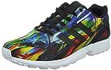 adidas ZX Flux - Zapatillas para Hombre, Color Negro/Amarillo/Rojo/Blanco, Talla 36