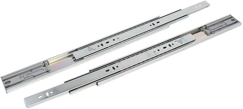 35-inch Full Extension Side Mount 3 Section Ball Bearing Drawer Slide 2PCS