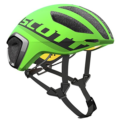 Scott Cadence Plus - Casco de bicicleta para triatlón, color verde y...