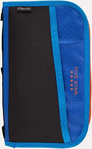 Five Star Pencil Pouch, Pen Case, Fits 3 Ring Binder, Multi-Pocket Pouch, Blue/Orange (50162CB8)
