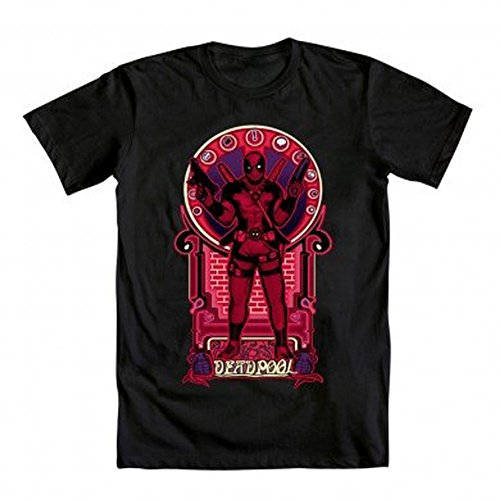 Marvel Deadpool Nouveau Deadpooley Adult Black T-Shirt (Adult XX-Large)