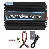 Inversor de corriente de 12 V a 220 V 2000W Inversor de corriente de onda sinusoidal pura con adaptador de CA USB para emergencias al aire libre - Universal para vehículos de 12 V y adecuado para ele