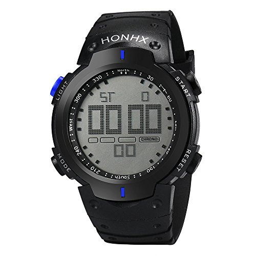New Muranba Fashion Waterproof Men's Boy LCD Digital Stopwatch Date Rubber Sport Wrist Watch