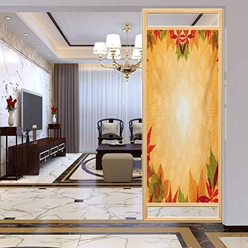 Pellicola per ufficio Privacy Finestra Sticker, Raccolta a righe sfondo punteggiato e vibrante acero Asp, bagno, ufficio, sala riunioni, soggiorno, finestra, larghezza 80 x altezza 180 cm