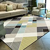 alfombra entrada casa interior Alfombra de sala de estar gris a rayas geométricas modernas alfombras de lavado de agua Amarillo alfombras para niñas 180x280cm alfombras para salon 5ft 10.9''X9ft 2.2''
