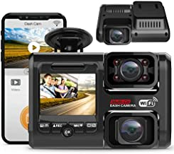 2021 Upgrade Pruveeo Dual FHD 1080P+1080P Dash Cam with WiFi, Front and Inside for Cars Taxi, 24H Parking Monitor, Infrared Night Vision, G-Sensor, 2.0