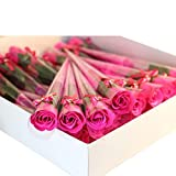 Y56 Rosen seife gastgeschenk 32Pcs Rot Fuchsia duftenden Rose Blütenblatt Bad Körper Seife...