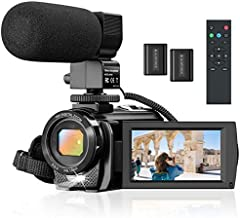 Camcorder Video Camera for YouTube, Vlogging Camera Recorder Full HD 1080P 30FPS 24MP 16X Zoom 3