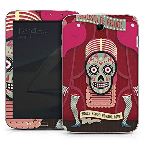 Samsung Galaxy Note 8 Wi-Fi N5110 Aufkleber Schutz Folie Design Sticker Skin Totenkopf Knochen Pinup