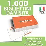 1000 BIGLIETTI DA VISITA Bigliettini STAMPA solo FRONTE a...