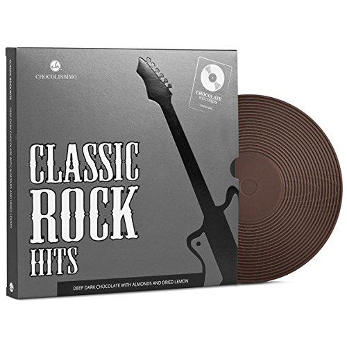 ChocoVinyl 'Classic Rock' - Pure chocolade vinylplaat | Chocolade LP | Cadeau muziekliefhebber | Grappig geschenk | Cadeau idee | Muzikant | Vaderdag | Moederdag | Verjaardag