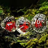 TASJS 7pcs / Set DND Dado D & D Dados con Animales D4 D6 D8 D10 D% D12 D20 Juegos de poliédricos Dados Set para Dungeons and Dragons DND Pionero RPG MTG (Color : Ladybug)
