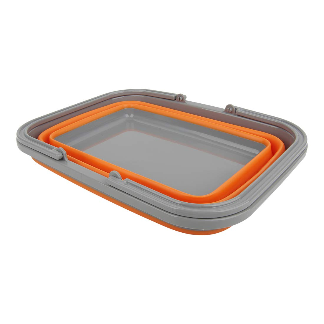 Tiawudi 2 Pack Collapsible Sink with 2.25 Gal / 8.5L Each Wash Basin for Washing Dishes, Camping, Hiking and Home