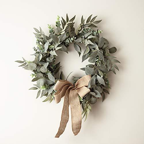 Lights4fun 50cm Eukalyptus & Lorbeer Weihnachtskranz