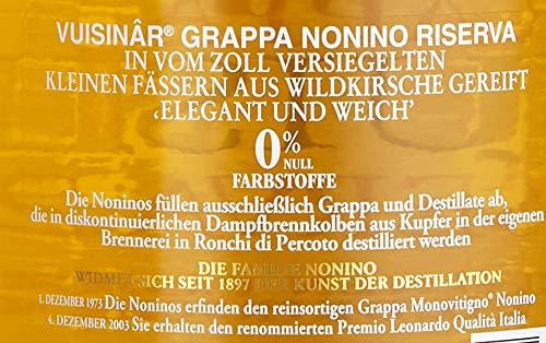 Nonino Grappa Vuisinâr Riserva 2 Years Wildkirschenholzfaß gereift (1 x 0.7 l) - 3