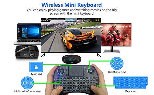 Android 9.0 TV-Box [2G + 16G] mit drahtloser Minitastatur, RK3318 64-Bit-Android-Box mit Quad-Core-Chip-Prozessor, Dual 5G / 2,4G Wi-Fi, BT 4.0, UHD H.265 4K * 2K, Smart TV Box