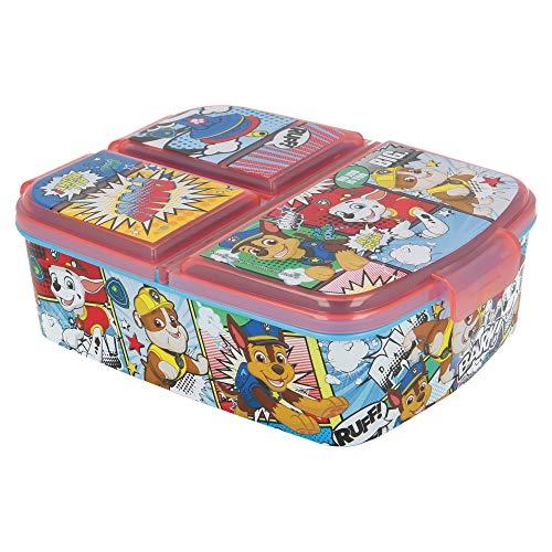 Stor Patrulla Canina | Sandwichera con 3 Compartimentos para niños - lonchera Infantil - Porta merienda - Fiambrera Decorada