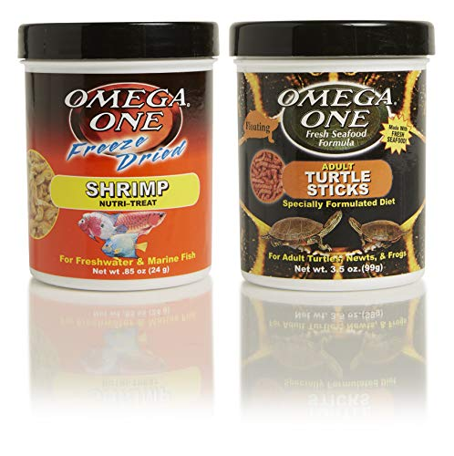 Omega One Adult Aquatic Turtle Combo, Variety Pack of 2