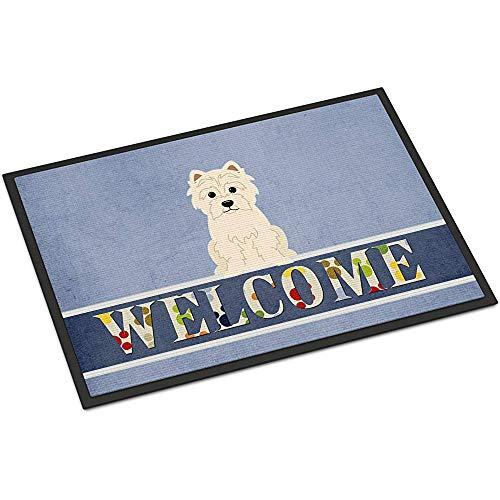 OUSHENGMAOYI Felpudo Delantero,Westie Welcome Doormat 60X40Cm Multicolor