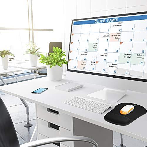 Mauspad mit Gelkissen | TECKNET Wasserdicht Ergonomisches Komfort Mousepad Office Mat Gel mit Handgelenkauflage für Computer und Laptop - 7