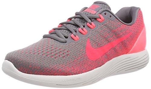 Nike Wmns Lunarglide 9, Scarpe da Running Donna, Grigio (Gunsmoke/Solar Red/Hot Punch/V 006), 44 EU
