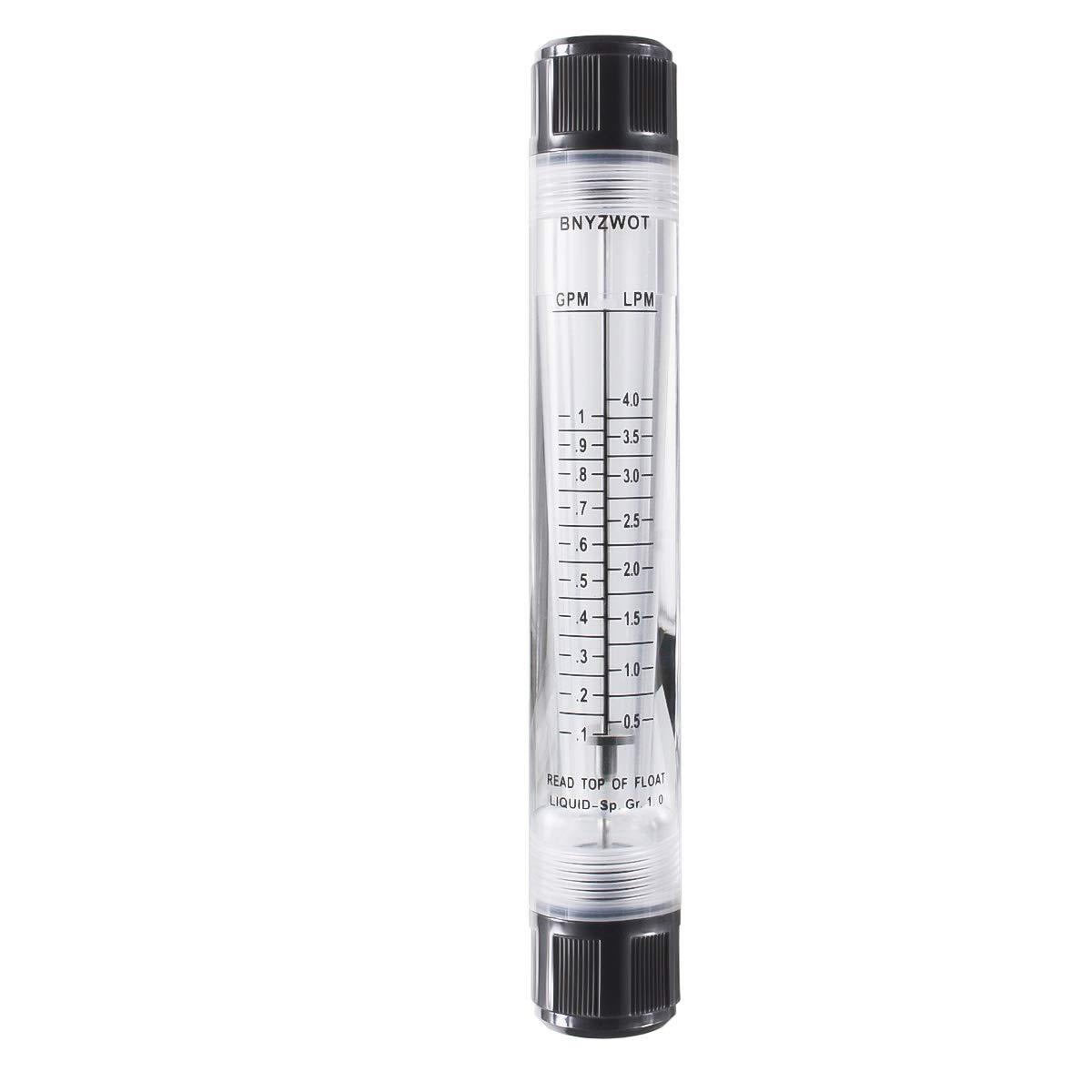 BNYZWOT Water 100% quality warranty! Flow Meter Panel Type Flowmeter 0.5 G-15 GPM 0.1-1 shop