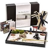 Island Falls Home Zen Garden Kit. 11x8 inch Beautiful premium Japanese Mini Rock Garden Meditation Gift Set for home & office desk-top. Fine Zen Sand, 6 Tools & 12 traditional features create zen calm
