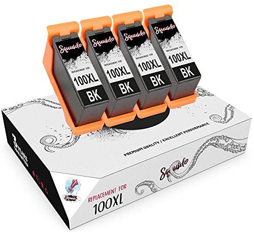 Squuido 4 Negro Cartuchos de Tinta 14N1068E 100XL compatibles para Lexmark Lexmark S405 Pro205 S605 Pro705 S305 Pro901 Pro905 Pro805 S815 S505 S816 S301 Pro209 | Alto Rendimiento