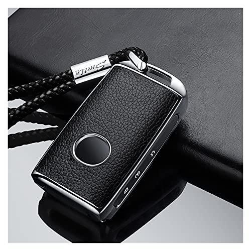 MSRRY Cubierta De La Caja De La Llave De La Aleación De La Aleación del Zinc De La Pasta De PU De La PU Ajuste para Mazda 3 Alexa CX4 CX5 CX8 2019 2020 3Button Smart Key (Color Name : Silver 03)