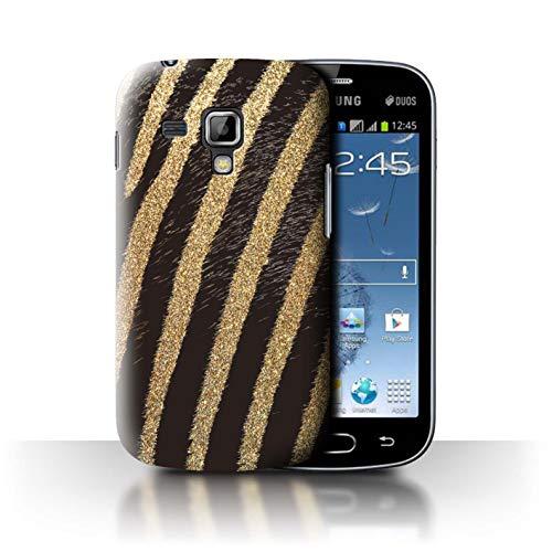 eSwish Phone Case/Cover/Skin/SGT-CC/Fashion Animal Print patroon Collection Samsung Galaxy Trend Plus/S7580 Goud glitter zebra