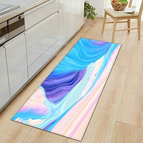 3D Carpet Long Striped Printed Floor Mats Memory Foam Kitchen Mat Absorbent Doormat Home Decor Hallway Rugs A8 60x180cm