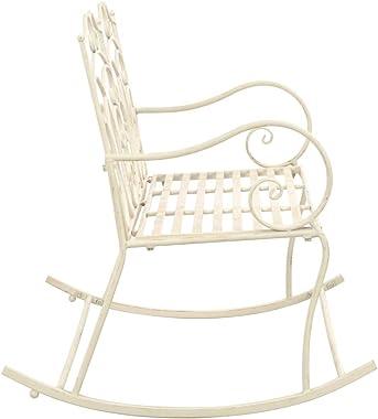 vidaXL Garden Bench Outdoor Patio Terrace Backyard Porch Park Seating Seat Sitting Chair Metal Bench Furniture 104cm Iron Ant