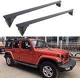 Coche Aluminio Bacas Travesaño para Jeep JL Wrangler 2018 2019 2020, Robustos portaequipajes Viajes y acampadas Alta resistencia a los impactos Piezas modificadas