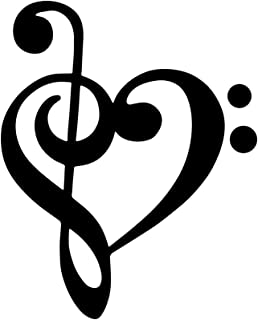 Home Find Music Note Heart Wall Decor Black Music Note Stickers Music Wallpaper Music Art Wall Decor Musical Symbols for Living Room Dance Room Music Classroom Decorations 15.7 inches x 19.3 inches