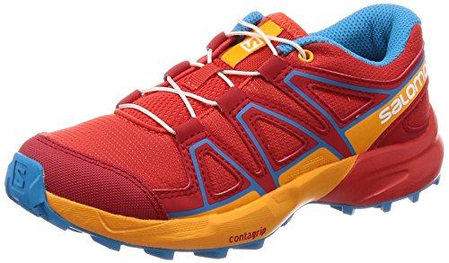 SALOMON Unisex-Kinder Speedcross J Traillaufschuhe, Rot (Fiery Red/Bright Marigold/Hawaiian 000), 38 EU