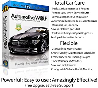 Automotive Wolf Pro Car Maintenance & Management Software