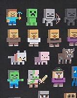 T-shirt per bambini e ragazzi, con i personaggi del videogioco Minecraft Black 14-15 Anni #3