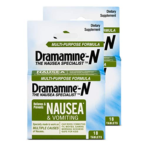 Dramamine-N Multi-Purpose Formula Nausea Relief, 18 Count (Pack of 2)