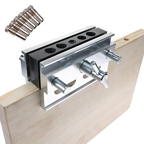 Def dowel jig kit, self centering doweling jig, wood doweling hole drilling guide