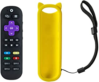 All in one Learning Universal Remote Control for Xbox One,Xbox One S,Xbox One X Media Player Remote with A,B,X,Y Buttons and Also for TV,Sound bar,Receiver,Bluray Streaming Media, and Yellow Cover