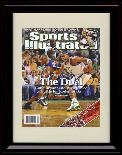 Framed Paul Pierce & Kobe Bryant Sports Illustrated Autograph Replica Print - Boston Celtics v Los Angeles Lakers