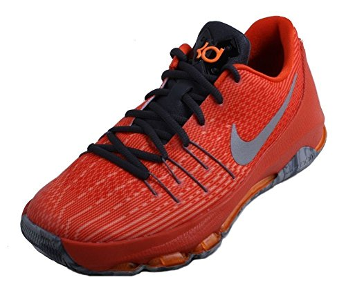 Nike Kids KD 8 Basketball Shoes-Total Orange/Reflective Silver-6