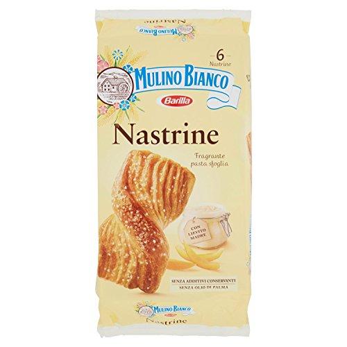 Mulino Bianco Merendine Nastrine Senza Ripieno, Snack Dolce per la Merenda - 6 merendine