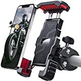 Sanosan One-Push Motorcycle Phone Mount,15s Quickly Install,1 Second Automatically Lock & Release,High-Speed Secure Switch,Bike Accessories for Motorcycle,Widely Compatible for Cellphone(4.7'-7')