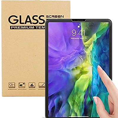 """Twin Pack Tempered Glass Film Screen Protector For New Apple iPad Air 4 [4th Generation 10.9"""" Inch Released in 2020] - Bubble Free Installation"""
