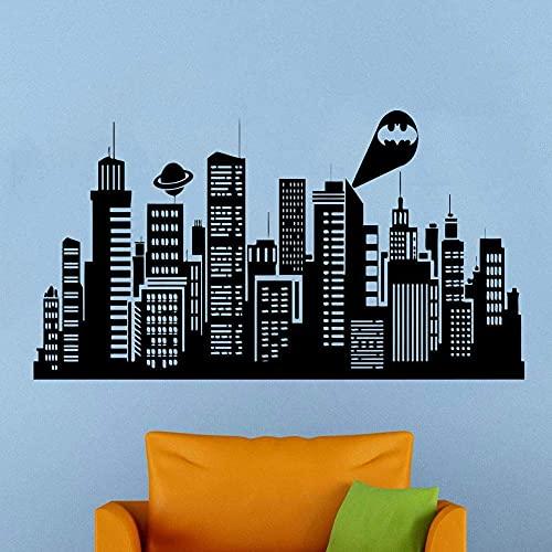 Batman Gotham City Wall Decal Comics Vinilo Adhesivo Habitación De Los Niños Home Art Decor E605-In Adhesivos De Pared De Home & Amp;Jardín En Aliexpress - 11.11_Double 11_Singles 'Day