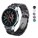 SPINYE Band Compatible for Galaxy Watch 46mm, 22mm Colorful Resin with Metal Buckle Replacement Strap for Samsung Gear S3 Frontier/Classic/Huawei Watch GT2 46mm Women Men, if Applicable (Black)