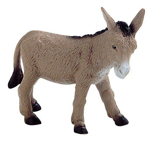 Bullyland 62509 - Spielfigur, Esel, ca. 11 cm groß, liebevoll handbemalte Figur, PVC-frei, tolles Geschenk für Jungen und Mädchen zum fantasievollen Spielen