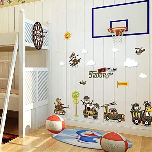 Stickers Muraux Creative Tank Salon Chambre Chambre D'Enfant Enfants Eco-Friendly Vinyle Amovible Diy Stickers Imperméables Décor Mural